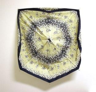 Mutsi/Mum, sateenvarjon kangas/umbrella cloth on wall, 2008