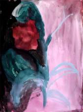 orchid, guasche on paper, 2009, 55*45cm