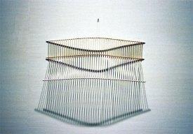 Rikottu sääntö/Broken rule, astiakuivausteline, dish rack, 2003,