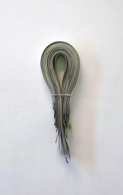 Mitä ajattelin ja mitä en/What Did I Think And Didn't, 2010 paper, gouasche, rubberband 19*38cm
