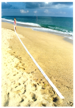 Beach line is infinitely long when you start measuring