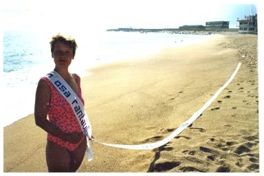 Osa rantaviivaa, Miss Beach 2001, (kuvauksessa avustanut Mikko Lipiäinen)