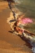 Miss Beach having fun, 2001