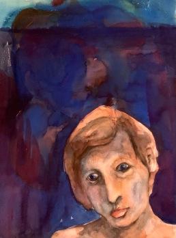 Omakuva, vesiväri, 2002