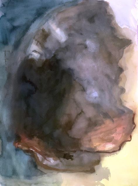Ritariperhonen, prhosen elämä, guassi, 75*55cm, 2007