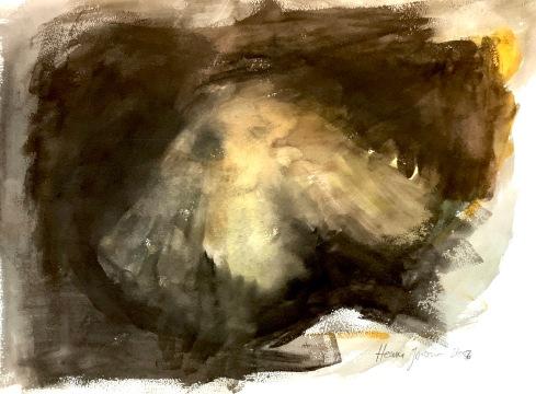 Perhosen elämä, vesiväri, guassi, 75*55cm, 2007