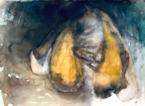 Perhosen elämä, 75*55cm, vesiväri, 2007