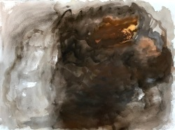 Ritariperhonen, perhosen elämä, guassi, 75*55cm, 2007