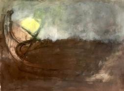 Vene rannassa, vesiväri, 75*55cm, 2007