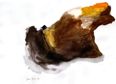 ritariperhonen, vesiväri, 75*55cm, 2007